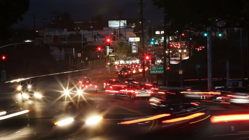 ALHAMBRA, CALIF. DEC.1, 2015 - The 710 Freeway intersects with Valley Boulevard at its northern ter