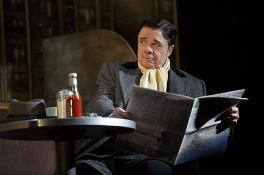 "This theater publicity image released by Lincoln Center Theater shows Nathan Lane in ""The Nance,"" performing at the Lyceum Theatre in New York. (AP Photo/Lincoln Center Theater, Joan Marcus)"