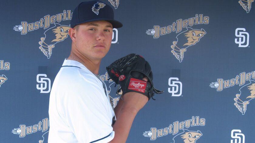 Padres pitching prospect Adrian Morejon.