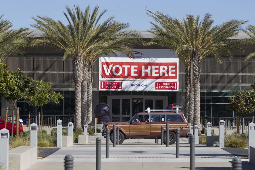 Early voting began in California on Oct. 10., 2018, San Diegans can cast a ballot at the Registrar of Voters' office.