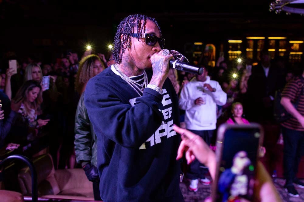 Rapper Tyga lit up Oxford Social Club at the Pendry Hotel on Sunday, May 27, 2018.