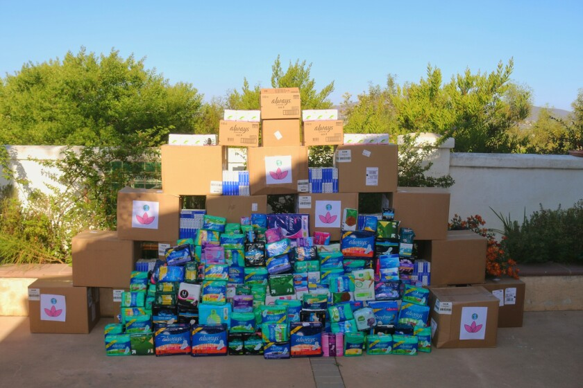 Students collected more than 20,000 menstrual products to give to the San Diego Unified School District.