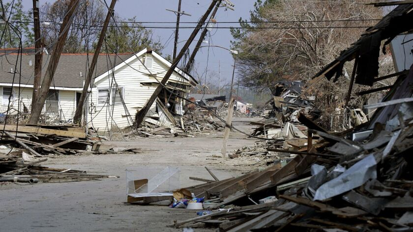The devastated northern portion of the Ninth Ward of New Orleans, La., remains closed Wednesday, Oc