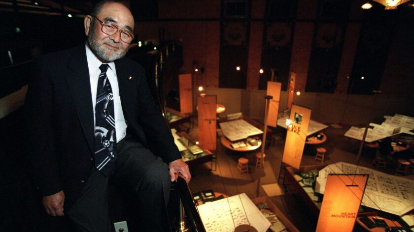 Bruce Kaji, founding president of the Japanese American National Museum, inside the museum in downtown L,A, in 1995.