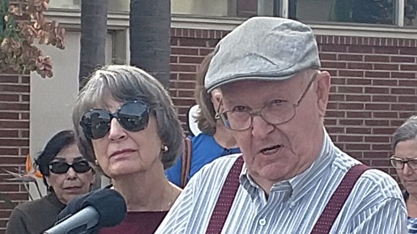 Roy and Mary Garrett are the plaintiffs in a lawsuit challenging the Escondido City Council's decision to outsource the public library's management and staff.
