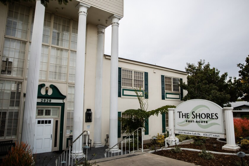 The Shores Post-Acute has the largest COVID-19 outbreak of all nursing homes in San Diego County.