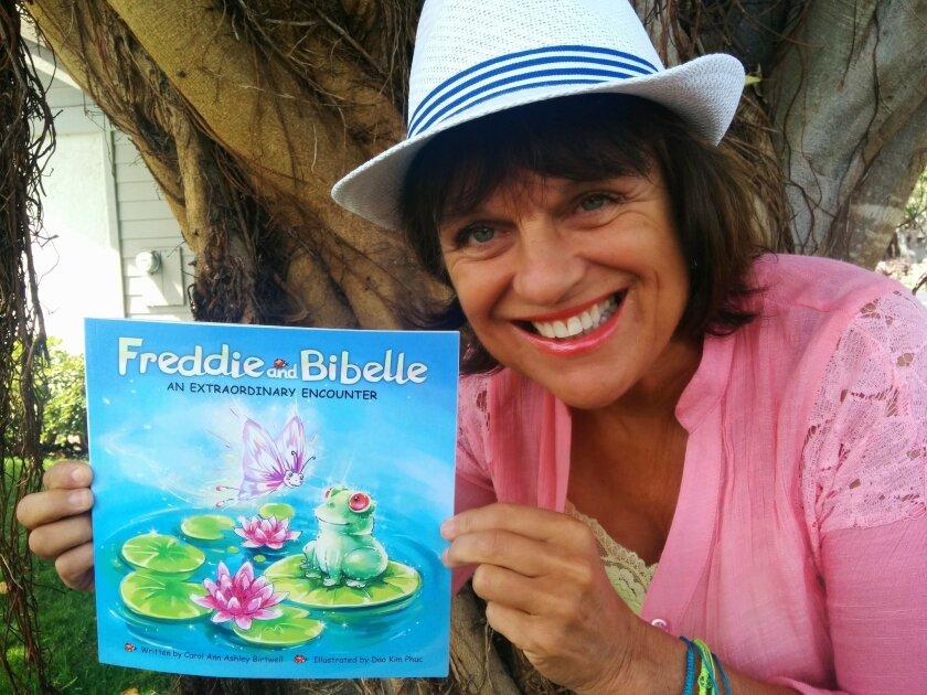 Carol Ann Ashley Birtwell with her book.