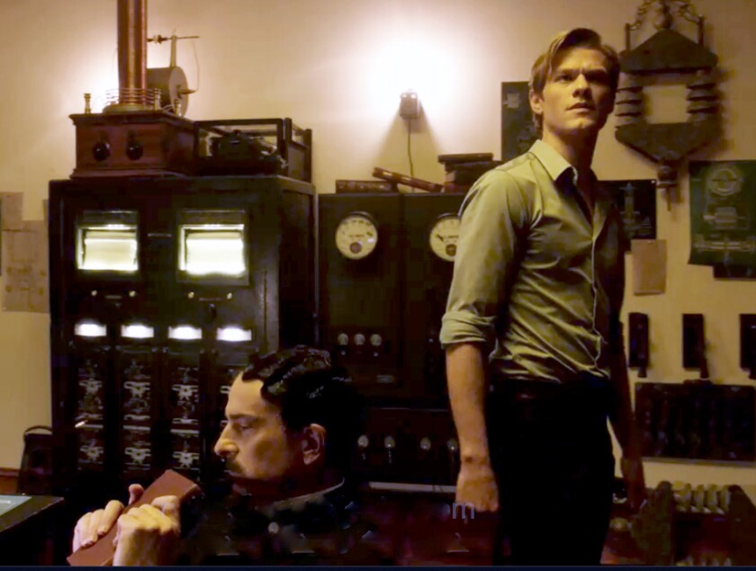 """John Ales, left, and Lucas Till in """"MacGyver"""" on CBS."""