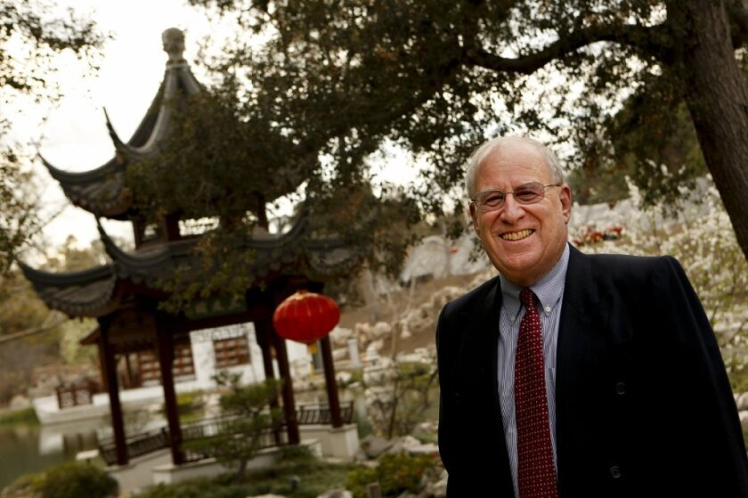 Steven Koblik, president of the Huntington Library, Art Collections and Botanical Gardens in San Marino.