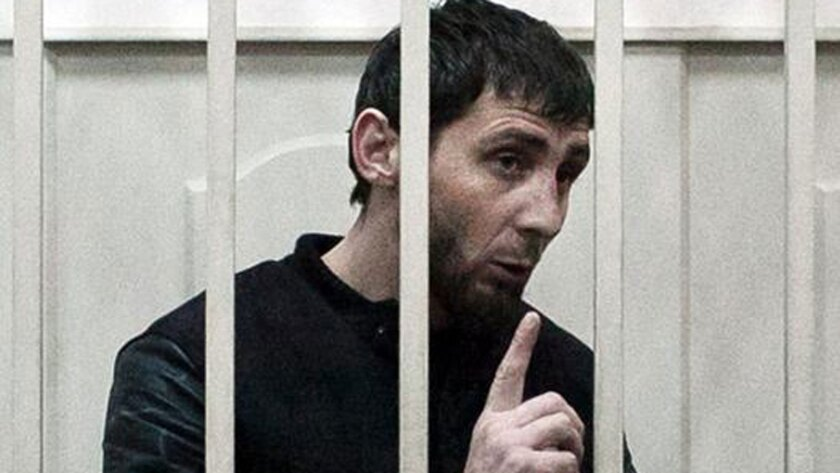 Zaur Dadayev, charged with the murder of Russian opposition leader Boris Nemtsov, at a courtroom lockup in Moscow on Sunday. He claims he was tortured into confessing.