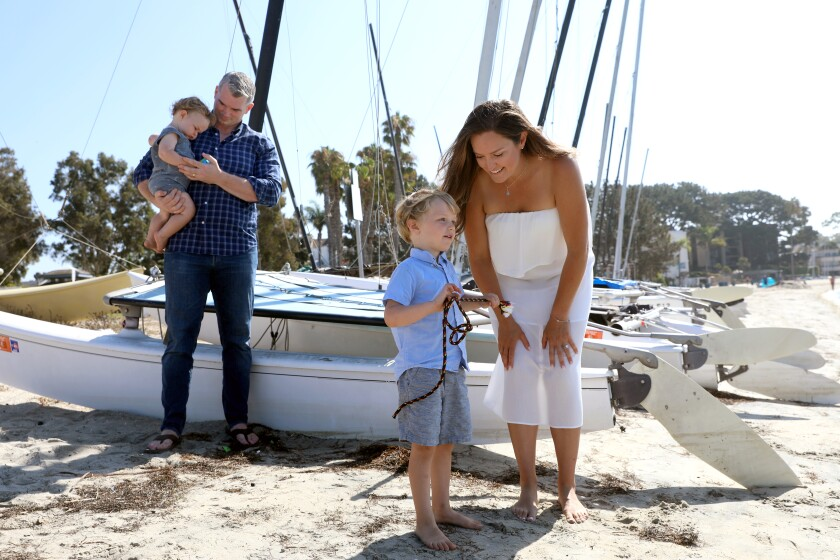 Rich Ohrnberger and family in San Diego. Wife Ann, sons Ty, 4, and Sebastian, 13-months.
