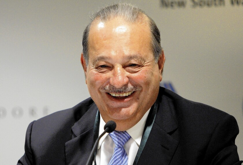 Tycoon Carlos Slim controls America Movil, whose subsidiaries Telmex and Telcel dominate Mexico's fixed-line and mobile telephone markets, respectively.
