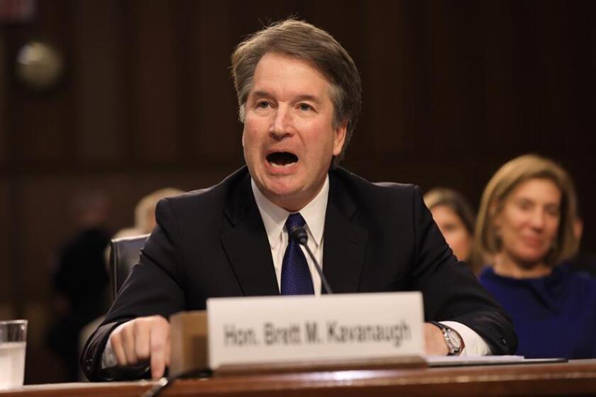 Fotografía del juez Brett Kavanaugh habla durante su audiencia de confirmación. EFE/Archivo