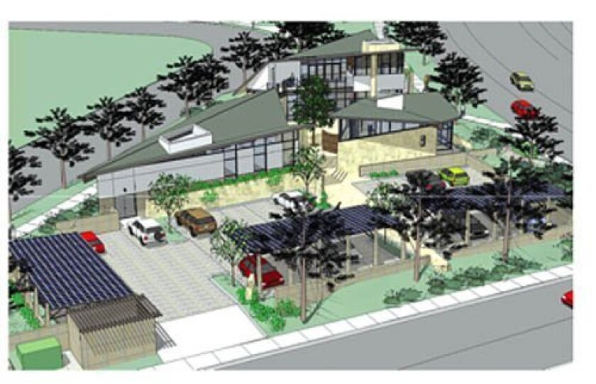 Artist rendering of the Hillel Center for Jewish Life, proposed for land adjacent UC San Diego. Courtesy
