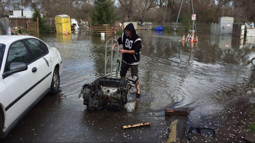 Flooding in Modesto