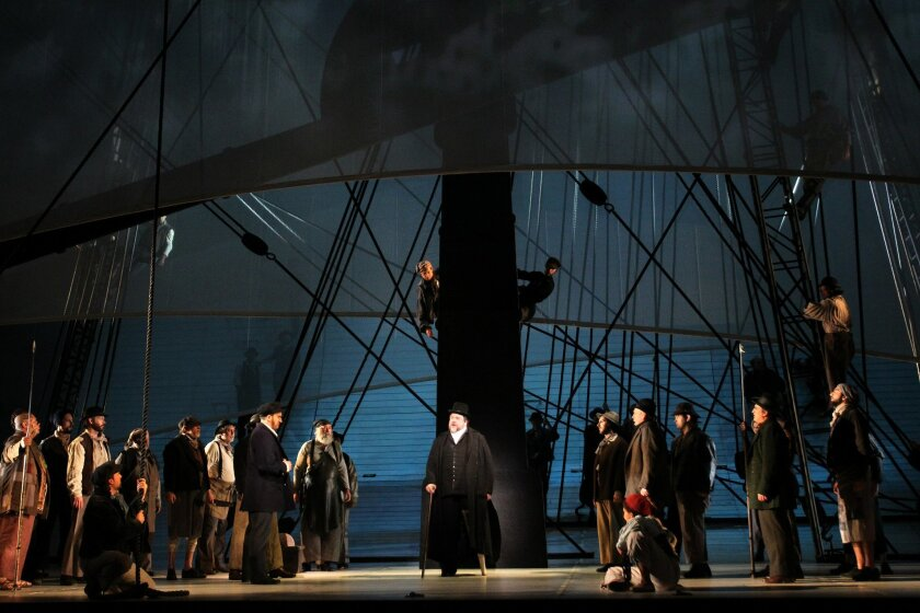 "Ben Happner as Ahab is at the center of the San Diego Opera's ""Moby-Dick."""