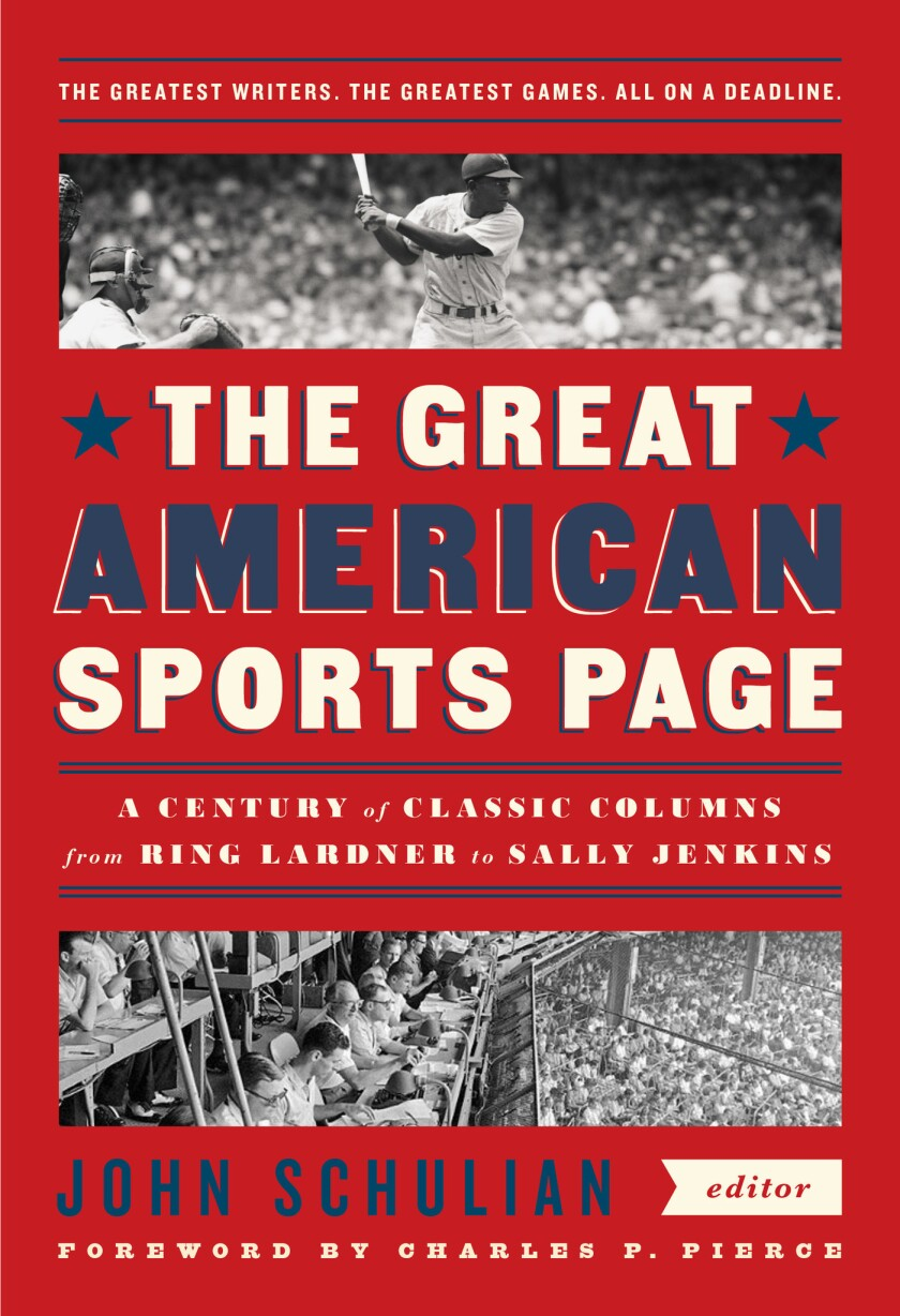 """A book jacket for John Schulian's """"The Great American Sports Page."""" Credit: Library of America"""