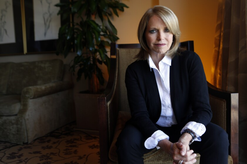 "Katie Couric is executive producer of the documentary ""Under the Gun,"" a look at the aftermath of the Sandy Hook massacre."