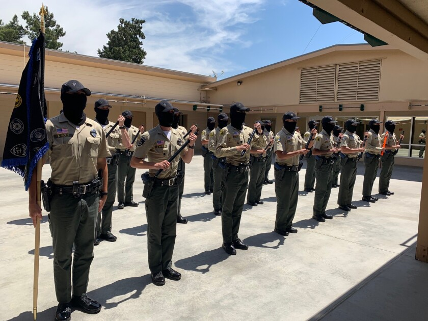 The training program for the San Bernardino County Sheriff's Department has been suspended.