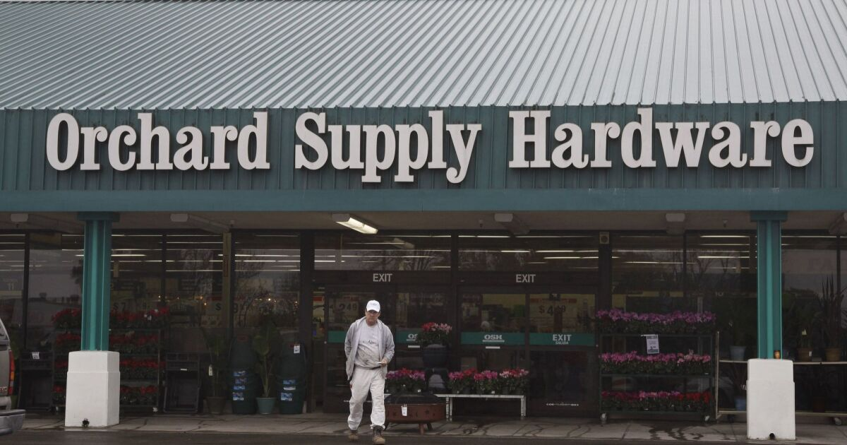 Lowe S Closing Orchard Supply Hardware Chain It Acquired Out Of Bankruptcy Los Angeles Times