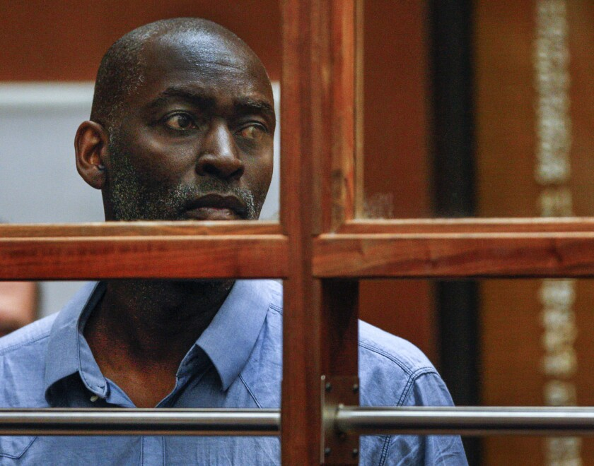 Actor Michael Jace appears in court in Los Angeles on May 22.