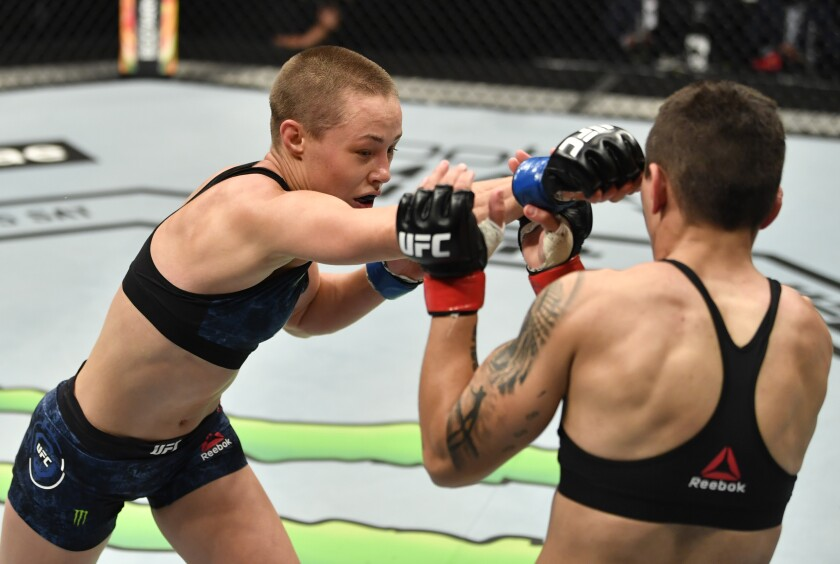 Rose Namajunas vs. Jessica Andrade (Photo by Jeff Bottari/Zuffa LLC)