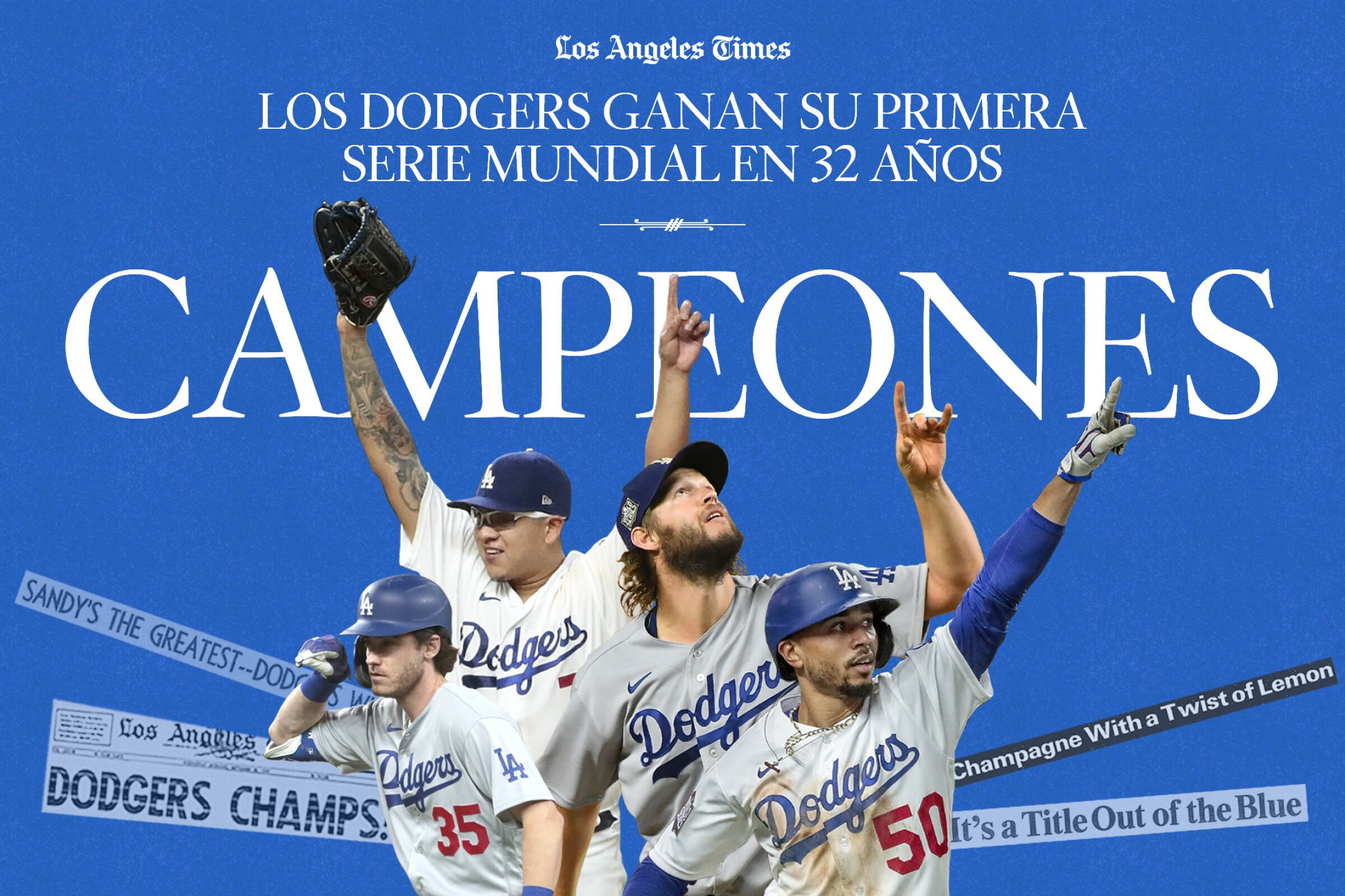 Dodgers players celebrate te World Campionship against the Rays in Game 6 of the World Series.