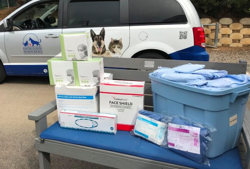 The Rancho Coastal Humane Society donated medical supplies to a local Scripps Hospital.