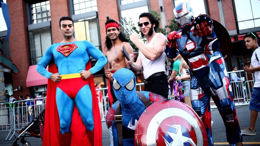 Cosplayers show off their stuff during 2017 Comic-Con International in San Diego.
