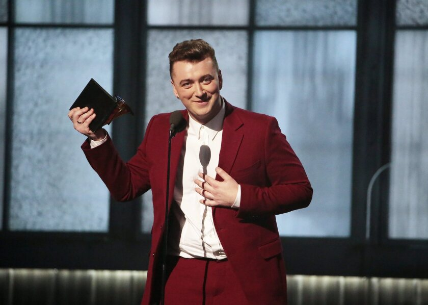 Sam Smith at the Grammy Awards