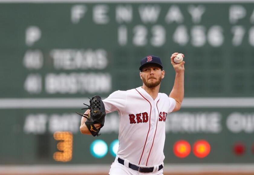 En la imagen, el lanzador Chris Sale de los Medias Rojas de Boston, EFE/Archivo