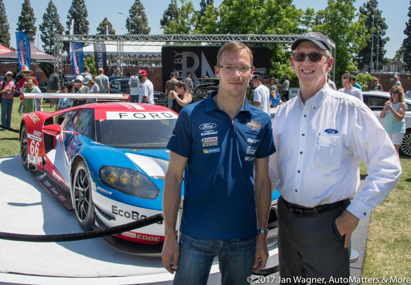 Sebastien Bourdais - Ford GT driver - & John Clinard of Ford