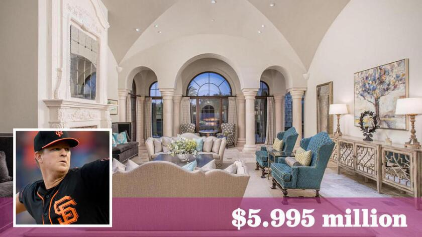 Matt Cain has relisted his home in Paradise Valley, Ariz., for $5.995 million, up $145,000 from last year.