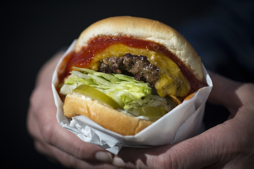 The Apple Pan's signature Hickoryburger.