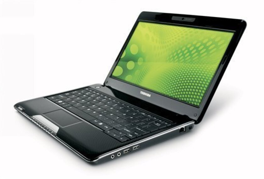 In this product image provided by Toshiba, the Toshiba T115 laptop computer is shown. (AP Photo/Toshiba) NO SALES