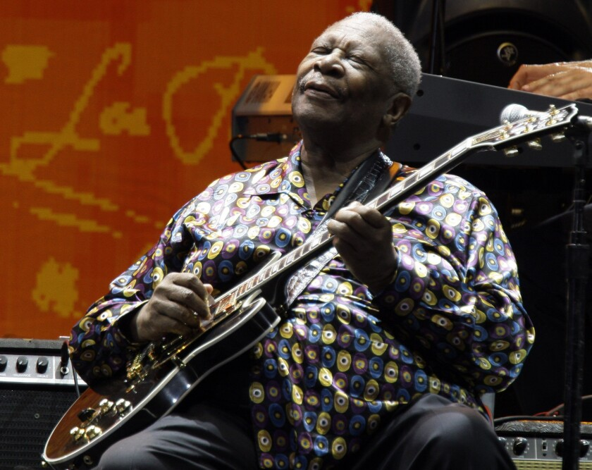 Blues great B.B. King, who died earlier this month, is shown performing in 2010.