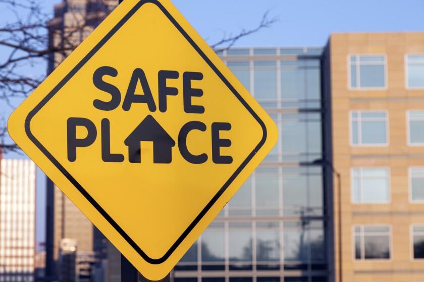 Safe place sign