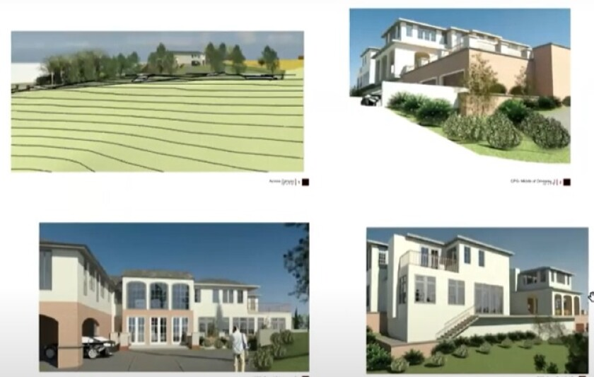 Renderings of a proposed development on the Foxhill estate