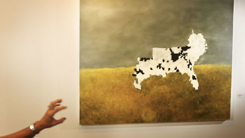 """Kim Dingle's """"Lincoln's Cow (map of the Confederacy),"""" 1990."""