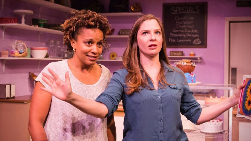 """Carolyn Ratteray as Macy, left, and Shannon Lucio as Jen in """"The Cake."""""""