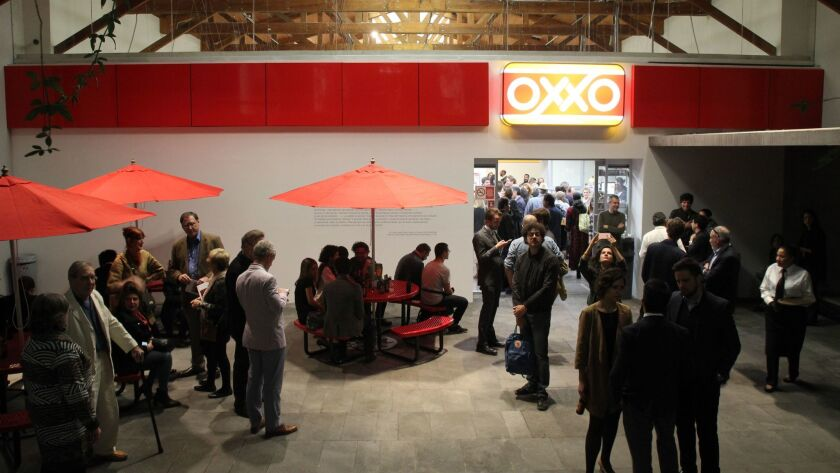Artist Gabriel Orozco installed a fully functioning Oxxo convenience store inside Kurimanzutto gallery.