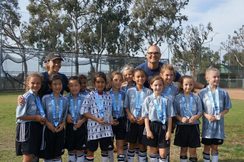 The Del Mar-Carmel Valley Sharks Girls U8 Blue team was a finalist in the La Jolla All-Star Tournament.