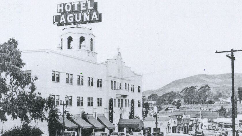 Hotel Laguna, seen in 1947, is one of Laguna Beach's most recognizable landmarks. Operator Andersen Hotels Inc. filed a lawsuit last month against the property owner and others, claiming they violated lease terms.