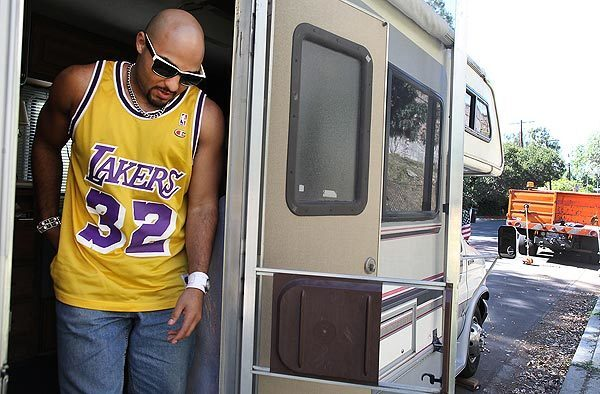 Remy Martin Foster moved from a condo to an RV after he lost his job.