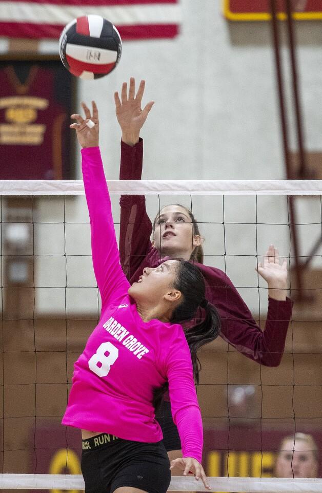 Photo Gallery: Ocean View vs. Garden Grove in girls' volleyball
