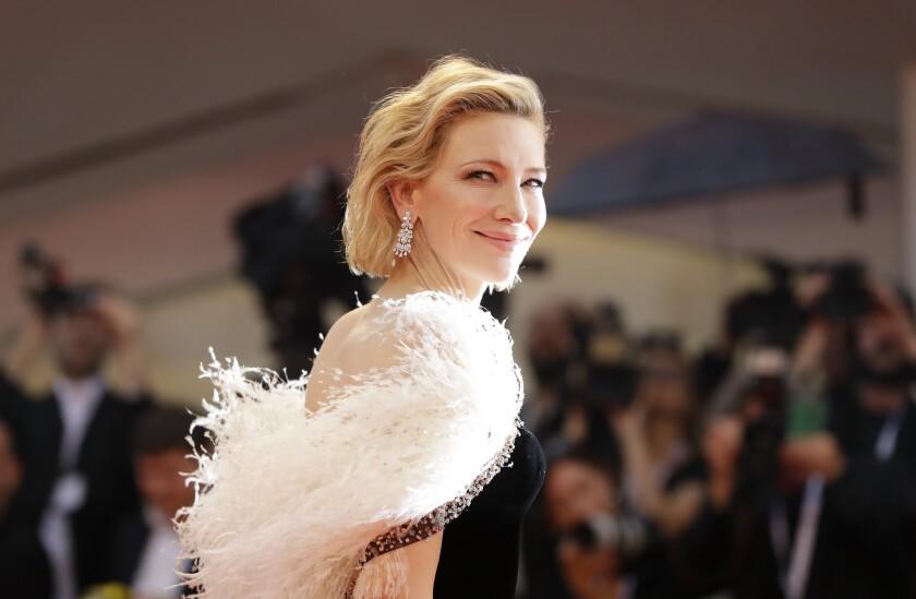 En esta foto del 31 de agosto de 2018, la actriz Cate Blanchett