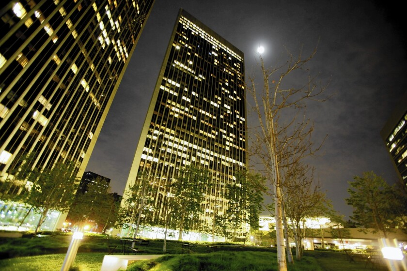Tall buildings and long, wide streets contribute to Century City's car culture.