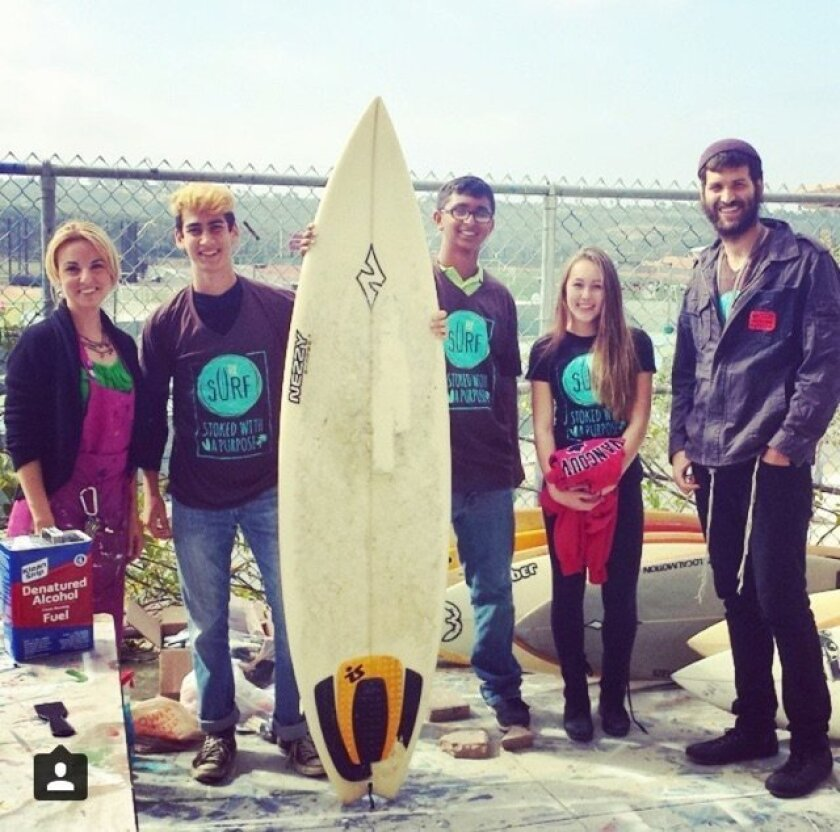 Forty reworked surfboards will be displayed May 31 at a fundraiser at The Melody League in Encinitas.