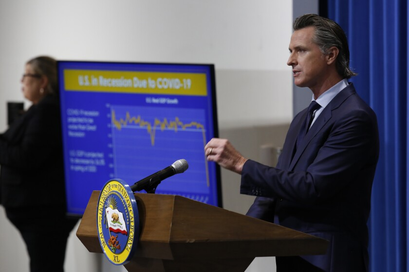 Gov. Gavin Newsom discusses his revised 2020-2021 state budget