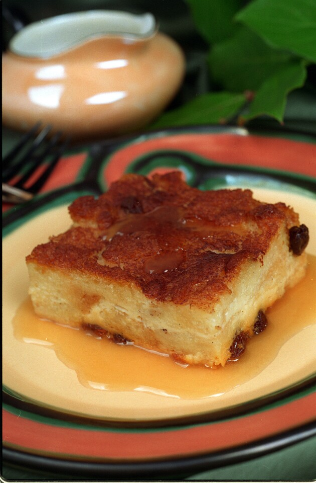 FO.SOS.Bread pudding.0220.IS.Gilliland's Cafe Irish Bread Pudding/Caramel Whiskey Sauce.Photo Iris Schneider.Mandatory Credit: Iris Schneider/The LA Times